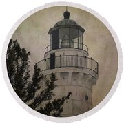 Cana Island Light Round Beach Towel