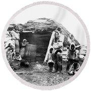 Canada Eskimo Family, 1860 Round Beach Towel