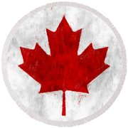 Canada Flag Round Beach Towel