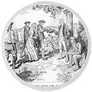 Canada: Loyalists, 1784 Round Beach Towel