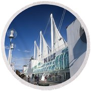 Canada Place Vancouver Round Beach Towel