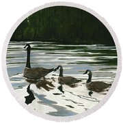 Canadas On Wilson Lake Nc Round Beach Towel