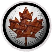 Canadian Bacon Lovers Baseball Square Round Beach Towel by Andee Design