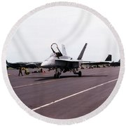 Canadian F-18 Round Beach Towel