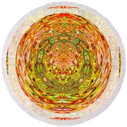 Canadian Fall Colors Conversion Into Chakra Wheel Deco Enery Mandala Round Beach Towel