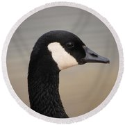Canadian Feathered Friend Round Beach Towel