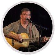 Canadian Folk Singer James Keeglahan Round Beach Towel