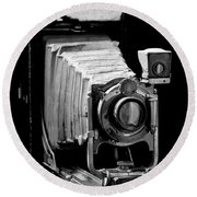 Canadian Kodak Black And White Camera Round Beach Towel