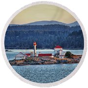 Canadian Lighthouses Sc3415-13 Round Beach Towel