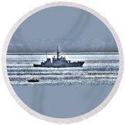 Canadian Navy Nanaimo M M702 Round Beach Towel
