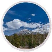 Canadian Rockies 13008 Round Beach Towel