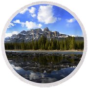 Canadian Rockies 8 Round Beach Towel