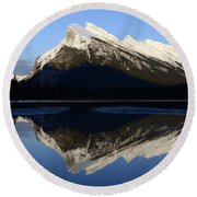 Canadian Rockies Mount Rundle 1 Round Beach Towel