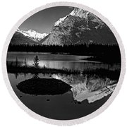 Canadian Rockies Round Beach Towel