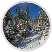 Canadian Winter Wonderland.. Round Beach Towel