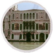 Canal Architecture Round Beach Towel