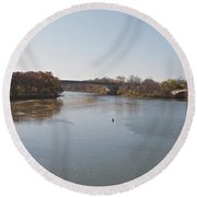 Canal Crossing Round Beach Towel