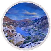 Canales Lake Round Beach Towel