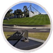 Canberra - Memorial And Parliament House Round Beach Towel