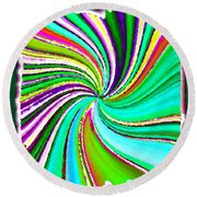 Candid Color 21 Round Beach Towel