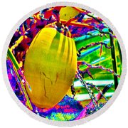 Candied Coconut Round Beach Towel