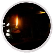 Candle Flame Double Wick Round Beach Towel