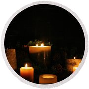 Candlelight Round Beach Towel