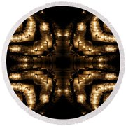Candles Abstract 1 Round Beach Towel