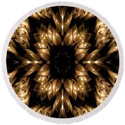 Candles Abstract 5 Round Beach Towel