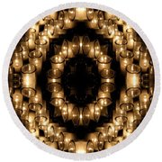 Candles Abstract 6 Round Beach Towel