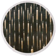 Candles On The Lake Udaipur India Round Beach Towel