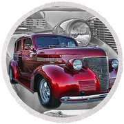 Candy Apple Red Round Beach Towel