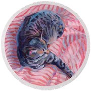 Candy Cane Round Beach Towel