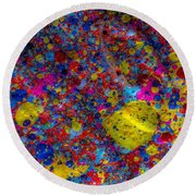 Candy Colored Blast Round Beach Towel