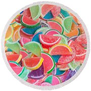 Candy Fruit Round Beach Towel