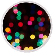 Candy Glowing Round Beach Towel