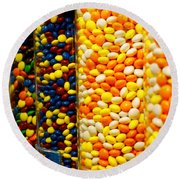Candy II Round Beach Towel