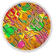 Candy - Lolly Pop Abstract  Round Beach Towel