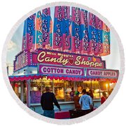 Candy Shoppe Round Beach Towel