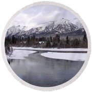 Canmore Winter Round Beach Towel