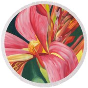 Canna Lily 2 Round Beach Towel