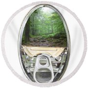 Canned Forest Round Beach Towel