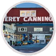 Cannery Row Area At Dawn, Monterey Round Beach Towel