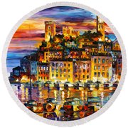 Cannes France Round Beach Towel