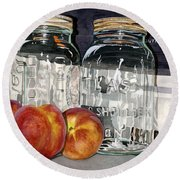 Canning Time Round Beach Towel