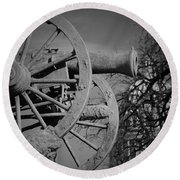 Cannon Fire Of Washington Round Beach Towel