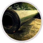 Elephanta Island Cannon Round Beach Towel