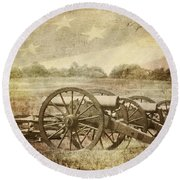 Cannons At Pea Ridge Round Beach Towel
