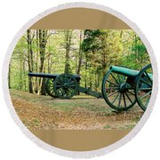Cannons I Round Beach Towel