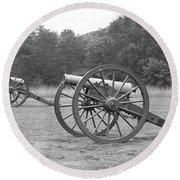 Cannons On Manassas Battlefield Round Beach Towel